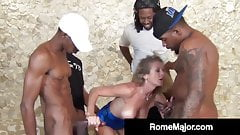 Black Gang Bang! Rome Major & 3 Bros Fuck White Jade Jamison