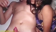 Two Aunty satisfied english man for money