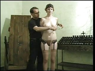 Being jen sexy Sexy slave with a nice rack, bound gagged, with her pussy being teased