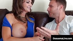 Cougar Deauxma has huge tits and loves young cock & cum