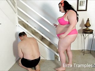 Trample sex Eliza tramples her pet