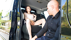 LETSDOEIT - Sex Addict Aralyn Fucks In Taxi