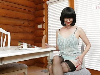 My fiirst sex teacher - Ffstockings- cum in my throat with julia the naughty teacher