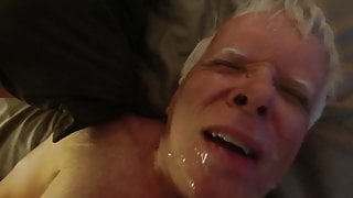 Receiving a Hot Facial of Thick Creamy Cum from a Friend