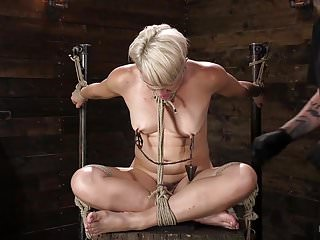 Hanging rope bondage Athletic milf helena locke submits to rope bondage