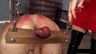 Mistresses crop and cane cock n balls
