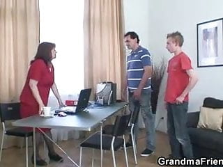 Fantasy mature office porn Nice surprise for mature office woman