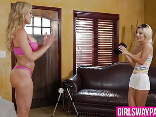 Bella brandi sex Blonde milf brandi love teaches teen bella rose lesbian sex
