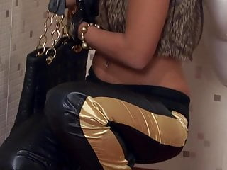 Vintage ladies gun vest Fancy bitch gets fucked in fur vest