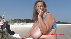 taboo Huge hanging tits woman loves a cigar perfect girl