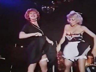 Club night sexy shirt 2 sexy glamourgirls vintage striptease in a night club 2