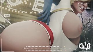 Power girl takes Big Black Cock in butthole by GeneralButch