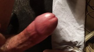Close up jerking my cock with explosive cumshot