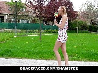 Braces cum girl Bracefaced - cute blonde teen gets cum in her braces