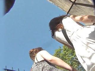 Piano voyeur camera upskirt - Upskirt voyeur flyskirt white thong