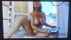 MILF with huge natural tits squirts