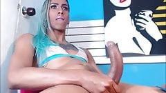 Tranny With Curvy Shaft Masturbates -RoNiN-