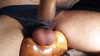 Busting with jerking and sperma