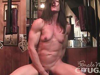 Muscle fuck Muscled mature masturbates and fucks a dildo