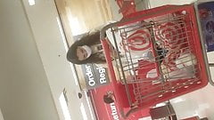 Sexy young girls at Target at self checkout