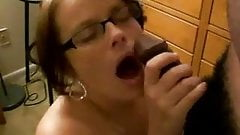 white slut sucks black cock