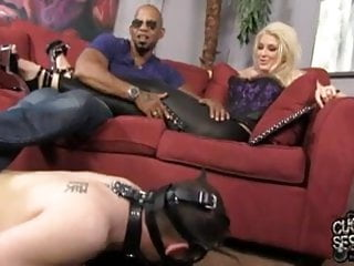 Gay uncut falcon - Anal mayhem and cuckold domination with leya falcon