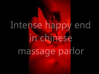 Intense cock massage Intense handjob happy end in chinese massage parlor 2
