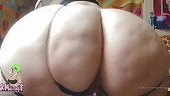 lesbian Solo pawg big ass booty multtiple orgasms