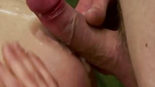 Raw fucked amateur twink covered in cum