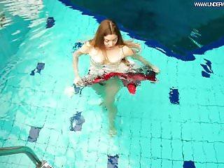 Freya swim mangopolitan soft triangle bikini - Hot polish redhead swimming in the pool