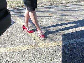 Sexy rod stuart Modeling my red stuart weizman heels