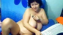 Granny in a web cam R20