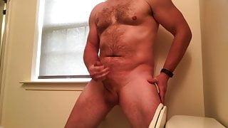 Cumming in the bathroom