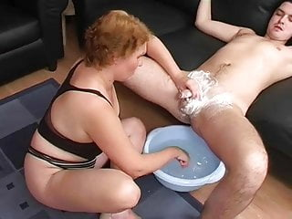 Madison james milf blown 2 - Young man takes a shave and gets blown