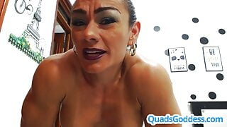 Extreme Squirt with Very Muscular Latina
