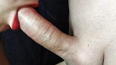 Stepmom's Red Lips Wrap Around My Hard Dick