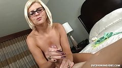 Naked Milf WIth Sexy Body Jerks Off Her Husband