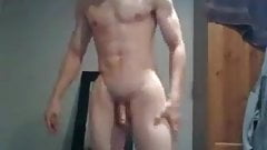 Athletic Boy With Big Cock Cums, Sexy Ass