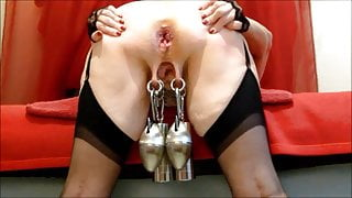 Heavy Weights, Ass Fuck and Fisting with Slave Shila