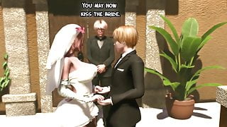 Shemale Wedding Day - Tranny Mommy fucks the bride, Futanari