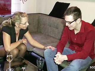 Virgin boy first fucking his mother - German stepmom help huge cock virgin boy with first fuck