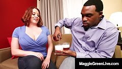 Super Big Tits Maggie Green Fucks Big Black Cock Rome Major!