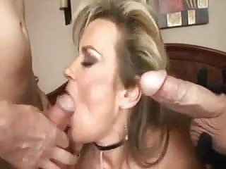 Two boys fucking in a field Beautiful horny milf in red corset fucking two boys