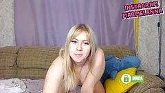 wife Russian girl shows ass butt