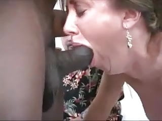 Ejaculate inside threesome - Two black cocks ejaculate inside wife and husband cleans