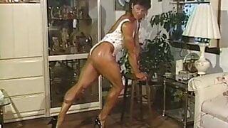 Joanne McCartney - sooo sexy(!!!), white leotard, indoor