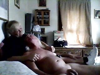 Arm dildo - Sissy husband masturbates in wifes arms