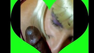 White CD sult Amber Loves to Suck Big Black Cock