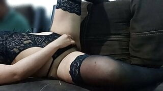 My horny girlfriend on web cam very excited!!!