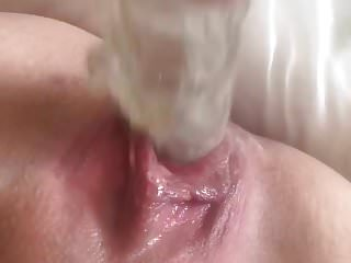 Fist fuck my douter Fucking my wet pussy gape with my dildo